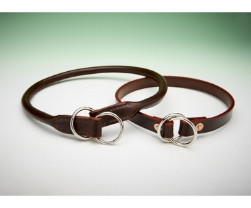 Flat Leather Check Collar