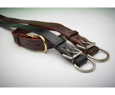 Extra Wide Heavy Duty Leather Dog Collar