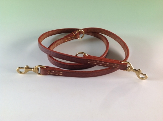 Genuine Buffalo Hide Double Training Lead