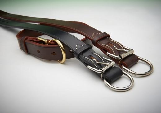 Extra Wide Heavy Duty Leather Collar